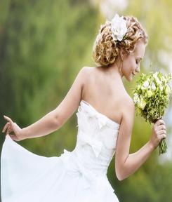 Mariée pour un mariage robe blanche coiffure à domicile l'art de coiffer Toulouse Lapeyrouse Fossat